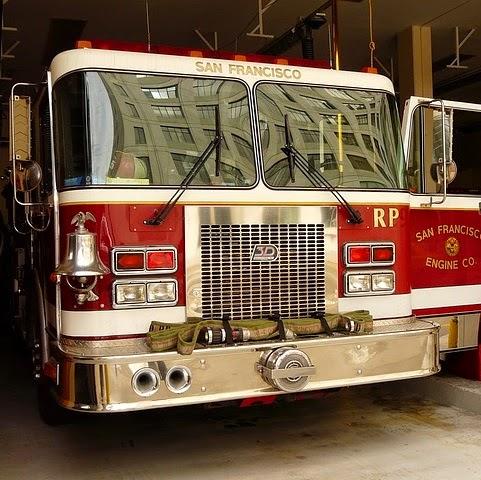 Q354 消防車に乗る動物